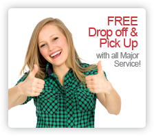 Free Drop Off & Pick Up with All Major Service