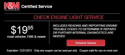Coupon - Check Engine Light Service
