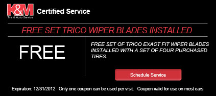 Free Tryco Wiper Blades Installed